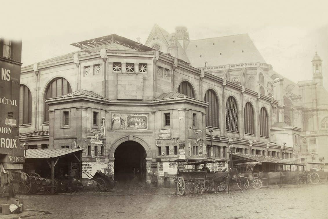 Markthallen des Quartier des Halles in Paris