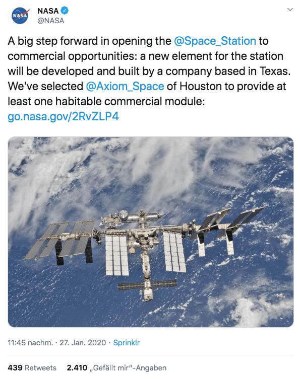 ISS, NASA, Raumstation