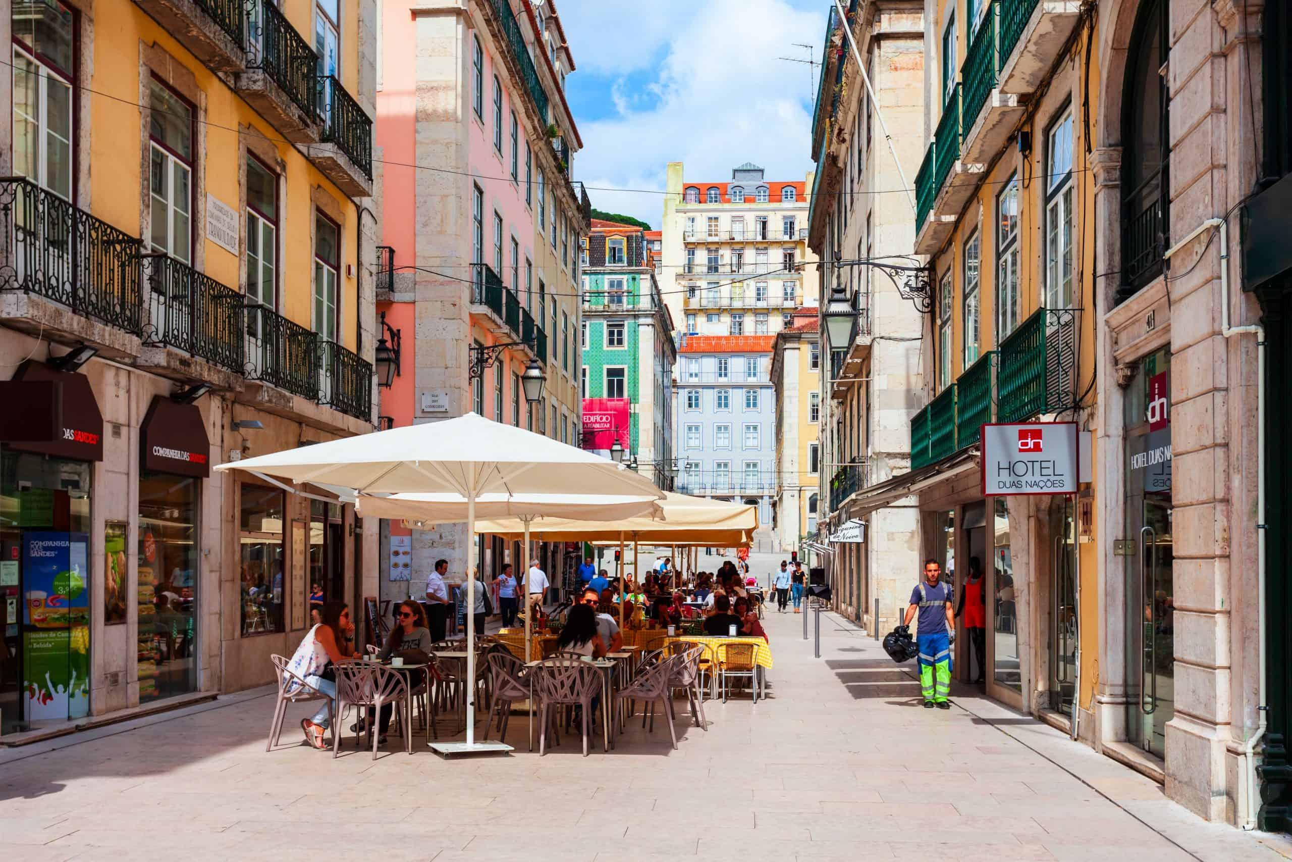 Lissabon Portugal Cafe Straße