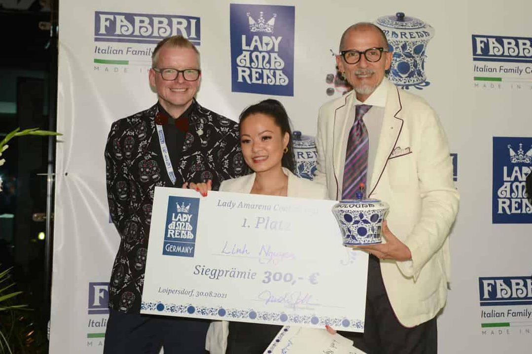 Linh Nguyen mit Nicola Fabbri und Johannes Roiner